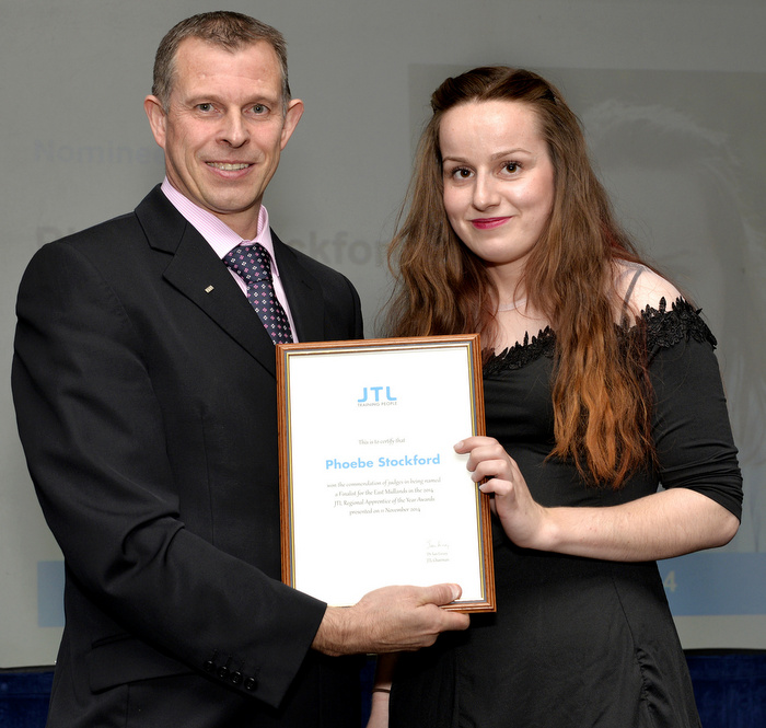 1-Phoebe Stockford JTL's Midlands Regional Business Manager Mark Page.