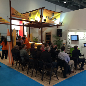 Stroma's beach bar stand at Ecobuild 2015