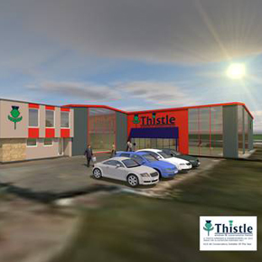 3D render of Thistle Windows' proposed new showroom development