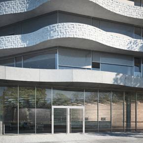 Stucco thermally insulated aluminium doors