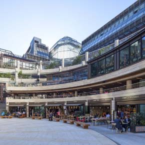 Aluprof's aluminium systems showcased at Broadgate