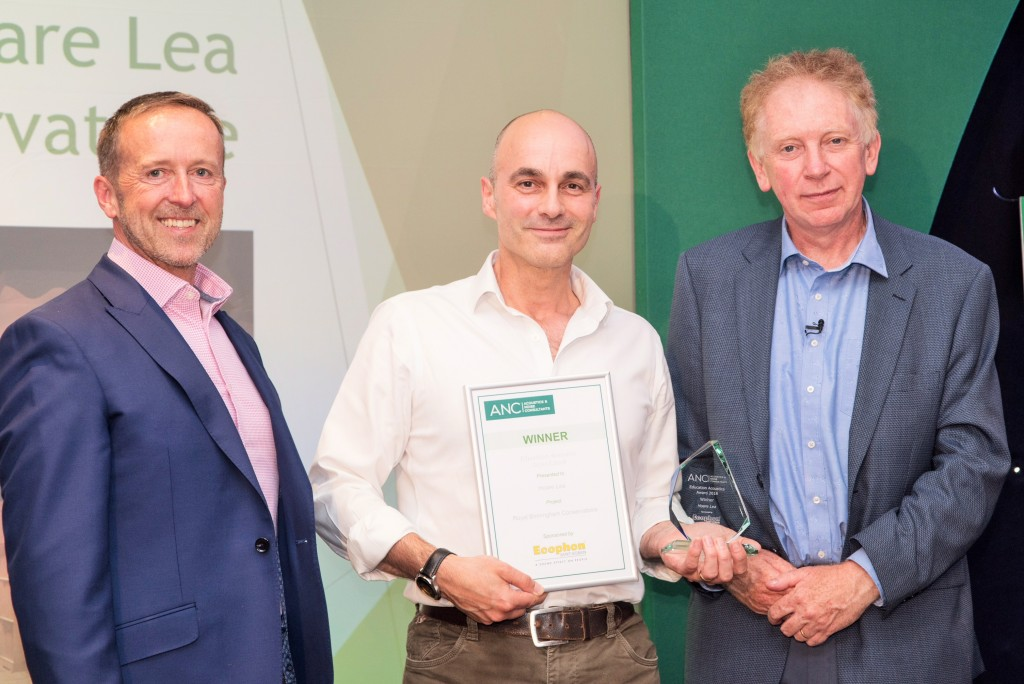 Shane Cryer of Ecophon, Michael Whitcroft of Hoare Lea and Dr Hugh Hunt