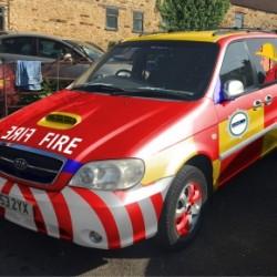 AWMS' 'Fireman Sam' banger in the Pavestone Rally