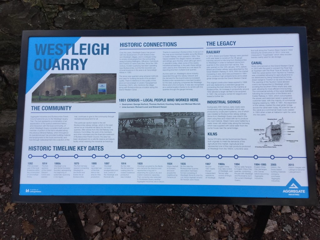 Aggregate Industries gifts information boards to Westleigh Quarry Trail 2