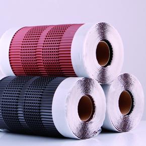 Three AluGrip-Rolls (black, brown, red)