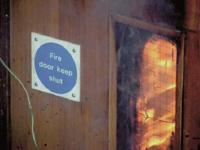 BM TRADA fire door test