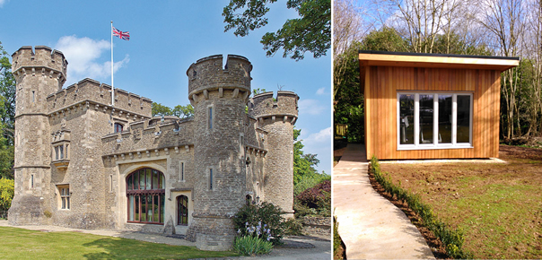 Timber cladding for Bath Lodge Castle