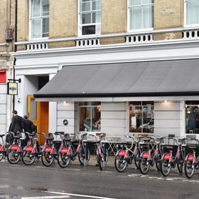 Exterior shot of the Breakfast Club near London Bridge