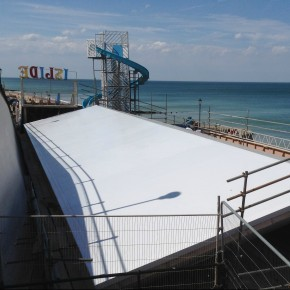 Sika Sarnafil's Self Adhered roof pictured on Dune Amusements