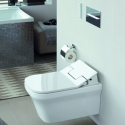 P3 Comforts wall-mounted toilet, Rimless, with HygieneGlaze and SensoWash Slim
