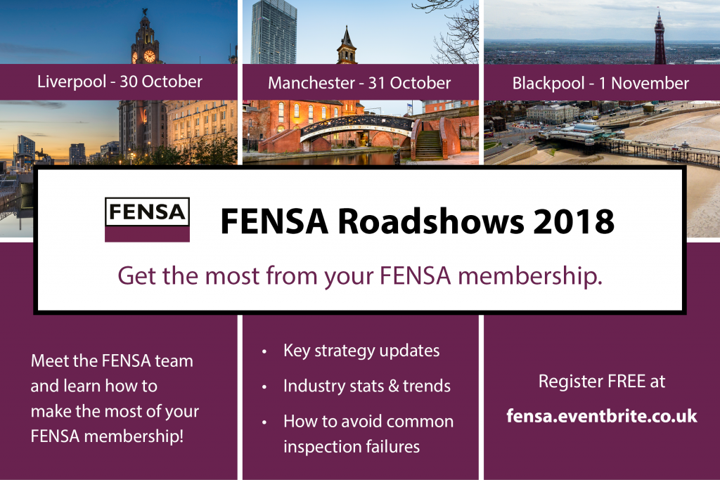 FENSA Roadshow 2018 Calendar - North West print