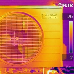 FLIR thermal - air con