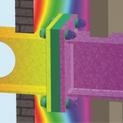 Fabreeka TIM Thermal Image and Girder Connection
