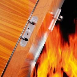 Samuel Heath Powermatic controlled concealed door closer in fire doors