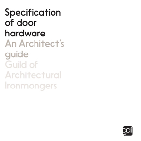 GAI Architect's Guide front cover