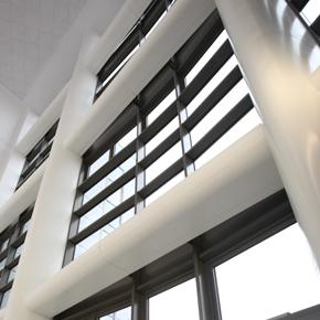Column casings at Birmingham Dental Hospital