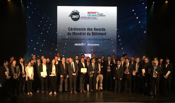 All the winners at the Le Mondial du Bâtiment Innovation Awards at Le Trianon in Paris