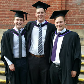 Ben Whicker, Ross Blandford and Nathan Richards join the recycling industry
