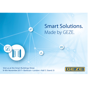 GEZE automation technology on display at Smart Buildings Show 2017