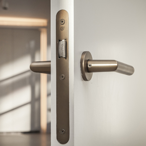 Bronze-finished ironmongery