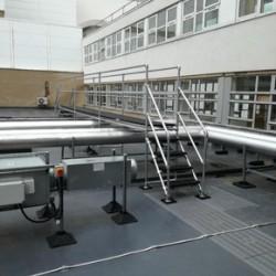 Safe access platforms at Sunderland Royal Hospital