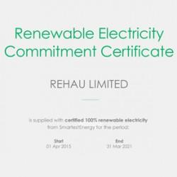Renewable Electricity Commitment Certificate – REHAU