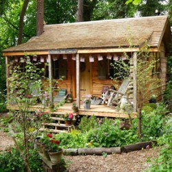 Cedar shake roof for Teasel's Wood Cabin