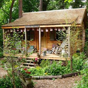 Cedar Shake Roof Specified For Garden Log Cabin Replica