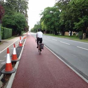 Bespoke kerbing for Huntingdon Road Cycleway
