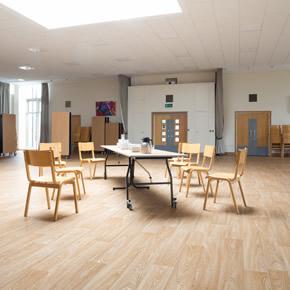 Wood effect vinyl flooring at Reigate Grammar School