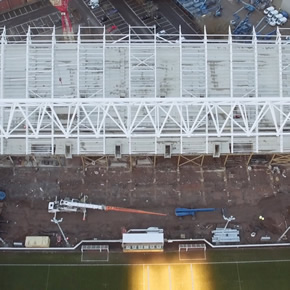 Metsec purlins and side rails used to upgrade Ashton Gate Stadium