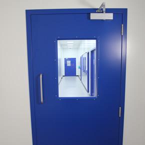 Powershield cleanroom steel doorsets