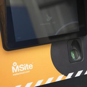 MSite fingerprint reader improves access control at construction sites