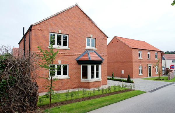 Fosters Croft development with Postel Clay Tiles and Cathedral Clay Pantiles