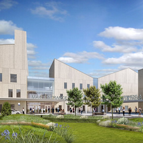 Kawneer curtain walling specified for new hospital