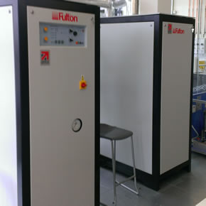Fulton bespoke electric steam boiler system at the Diamond