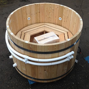 Wooden hot tub from Edge Leisure