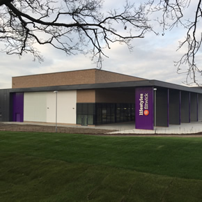 Doorset specification for Flitwick leisure centre