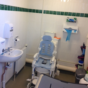 Clos-o-Mat equipment for disabled users