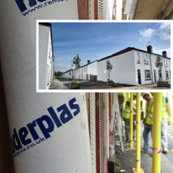 PVCu render beads for veteran residential development