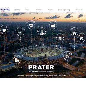 Prater's new website