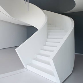ImHI-MACS solid surface material staircase