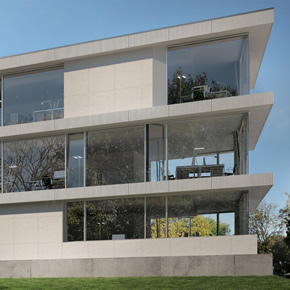 Concealed vent facade from Schueco