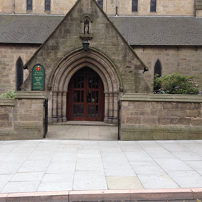 Fens Moss Yorkstone flag paving