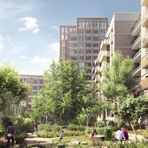 SFS infill walling for Elephant and Castle regeneration