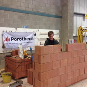 Porotherm clay block walling system