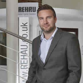 Drew Clough, REHAU Product Manager for underfloor heating and plumbing