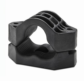 Trident all-plastic trefoil cable cleat
