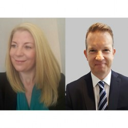 ASSA ABLOY Security Doors' sales recruits: (L-R) Claire Boardman and Kevin Campbell