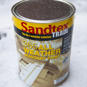 Weather resistant paint from Sandtex Trade